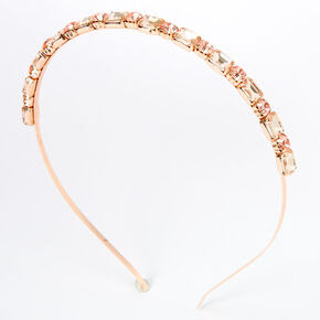 Rose Gold Chunky Rhinesone Headband,