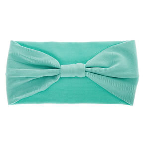 Ribbed Knotted Headwrap - Seafoam Green,