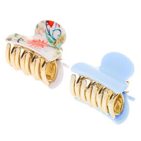 Antique Floral Mini Hair Claws - 2 Pack,