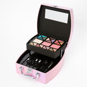 Holographic Travel Case Makeup Set - Pink,