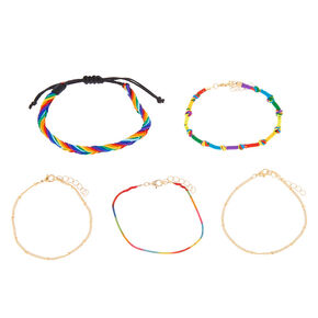 Rainbow Daze Bracelets - 5 Pack,