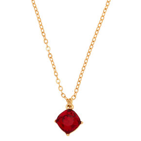 January Birthstone Pendant - Garnet,