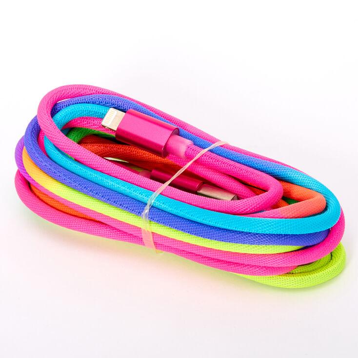 USB 10ft Rainbow Charging Cord,