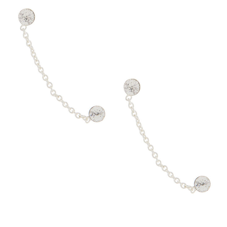 Sterling Silver 3MM Connect Drop Earrings,