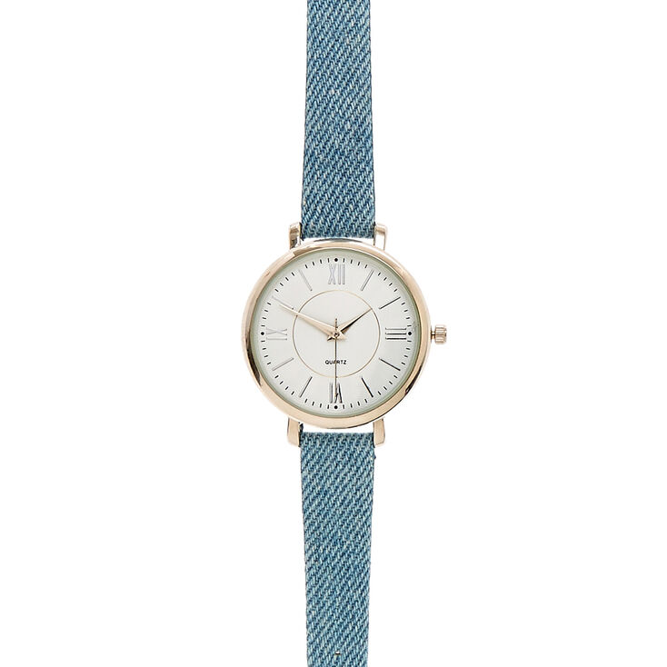 Blue Jean Denim Wristwatch,