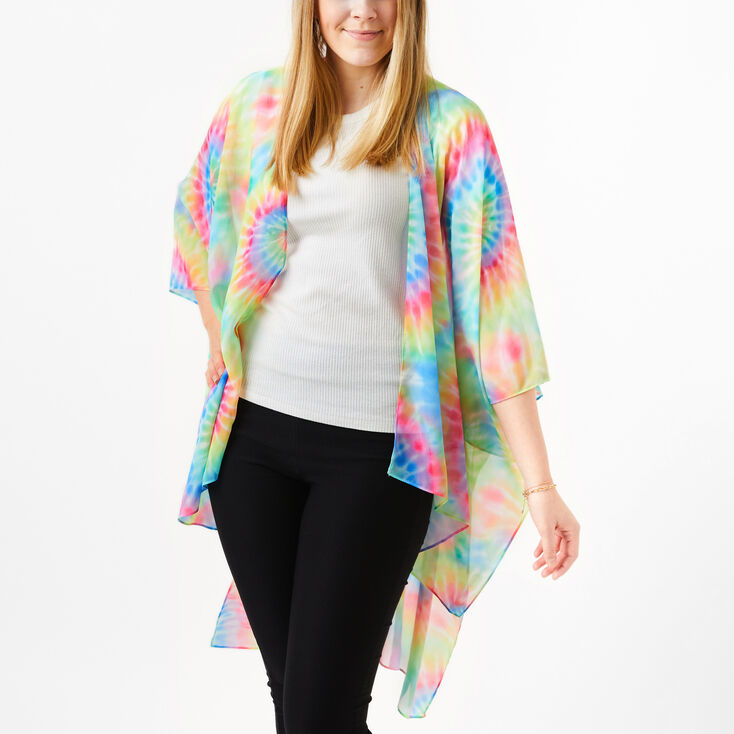 Vintage Coats & Jackets | Retro Coats and Jackets Icing Tie-Dye Kimono $29.99 AT vintagedancer.com