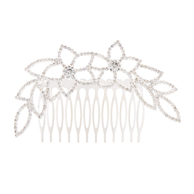 Crystal Flowers & Leaves Hair Comb,