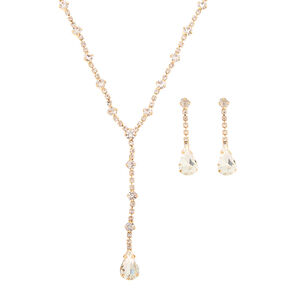 Gold Teardrop Jewelry Set - 2 Pack,