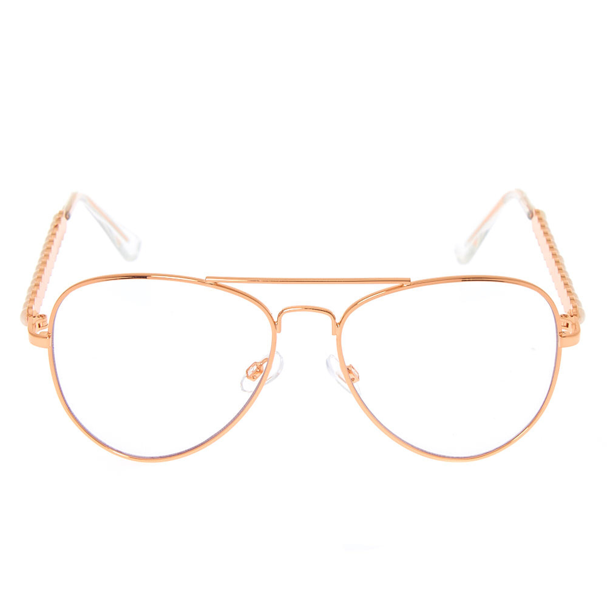 Pearl Rose Gold Aviator Frames | Icing US
