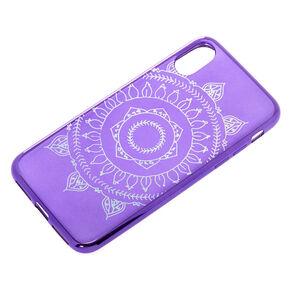 Purple Metallic Mandala Phone Case - Fits iPhone X/XS,