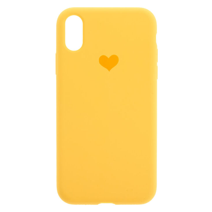 Mustard Heart Phone Case - Fits iPhone XR,