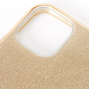 Gold Glitter Protective Phone Case - Fits iPhone 11 Pro Max,