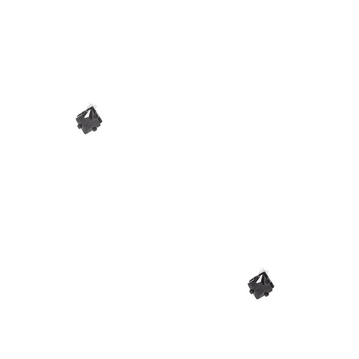 3MM Jet Black Cubic Zirconia Stud Earrings,