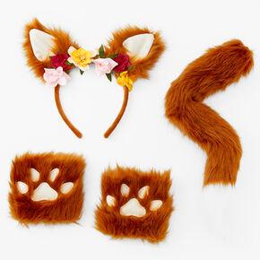 Plush Fox Costume Set - Brown, 3 Pack,