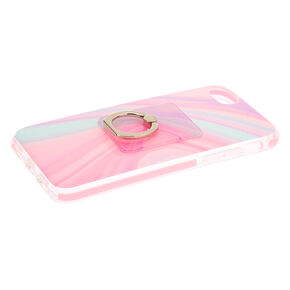 Pastel Swirl Protective Ring Holder Phone Case - Fits iPhone 6/7/8,