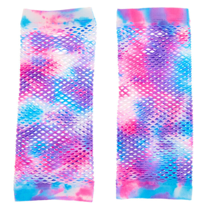 Tie Dye Arm Warmers - Pink and blue,