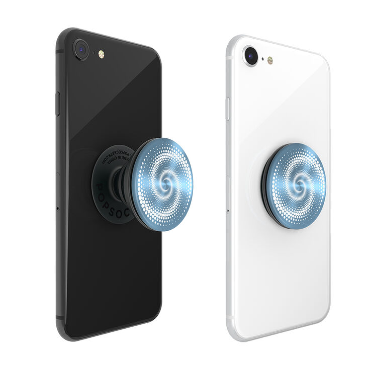 PopSockets Swappable PopGrip - Blue Spiral,