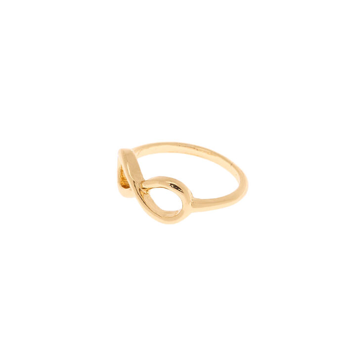 Gold Infinity Ring,