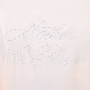 Light Pink Satin & Crystal Mother of the Bride Robe,