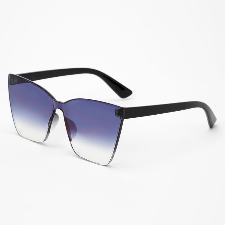 Faded Shield Sunglasses - Black,