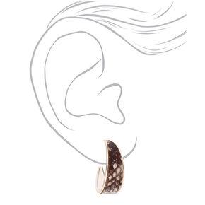 Silver 30MM Snake Skin Hoop Earrings,