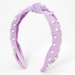Pearl Knotted Headband - Lilac,