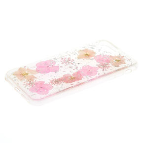 Pink Pressed Flower Phone Case,