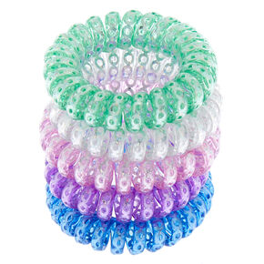 Sequin Coil Mini Hair Ties - 5 Pack,