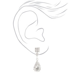 Silver Cubic Zirconia Teardrop Jewelry Set - 3 Pack,