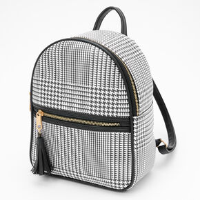Glen Plaid Small Backpack - Black,