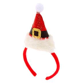 Santa Hat Headband - Red,