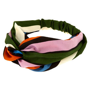 Safari Stripe Knot Headwrap,
