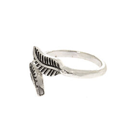 Sterling Silver Feathered Toe Ring,
