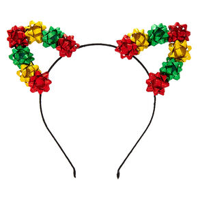 Christmas Bows Cat Ears Headband,