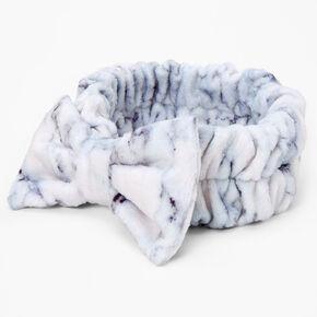 Marble Makeup Bow Headwrap - White,