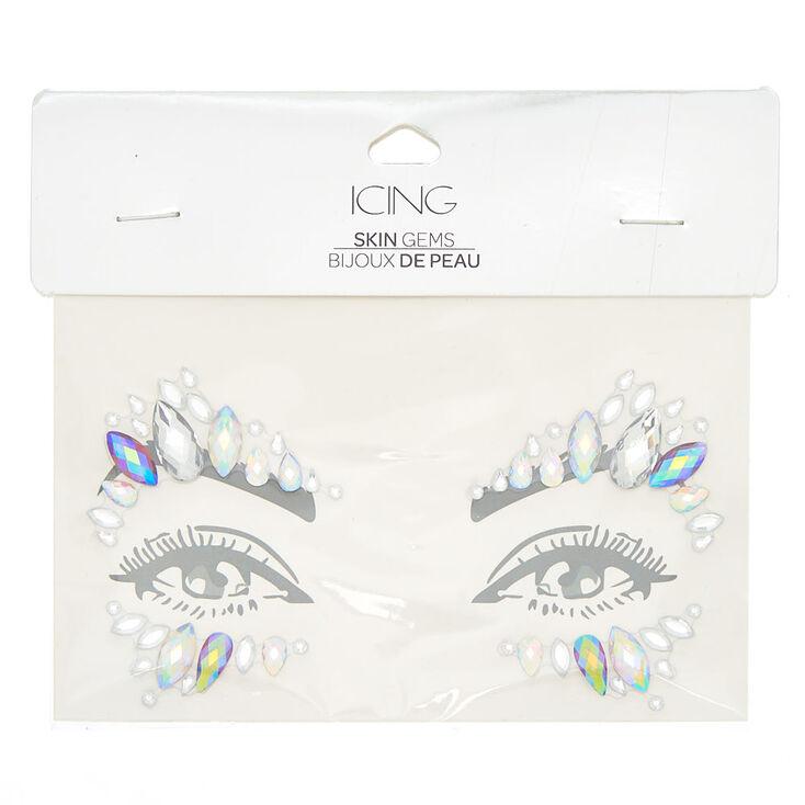 Iridescent Eye Gems - Clear,