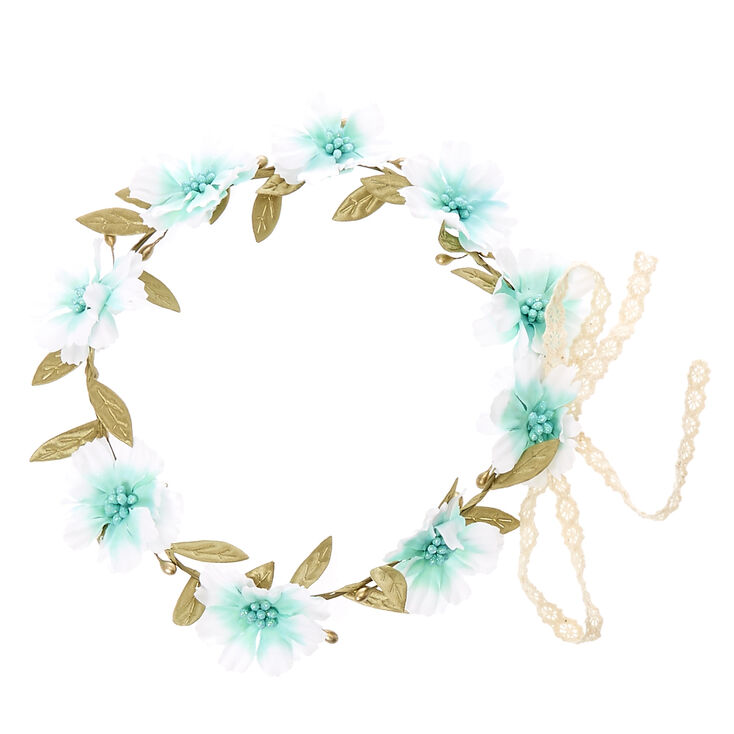 Mint Crochet Flower Crown,
