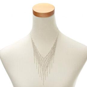Crystal Fringe Statement Necklace,