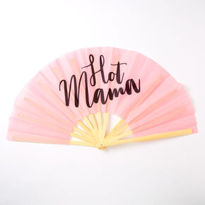Hot Mama Oversized Folding Fan - Pink,