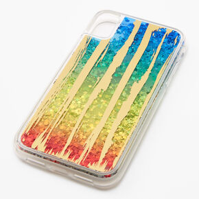 Rainbow Star Glitter Phone Case - Fits iPhone XR,