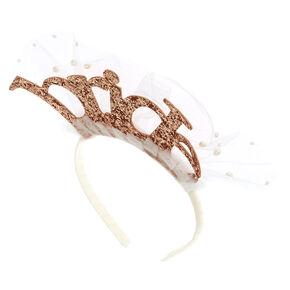 Rose Gold Bride Headband,