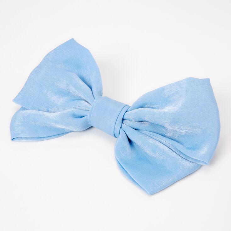 Large Hair Bow Clip - Blue,