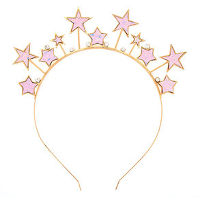 Holographic Star Crown Headband,