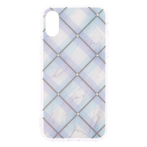 Argyle Plaid Phone Case - Fits iPhone X/XS,