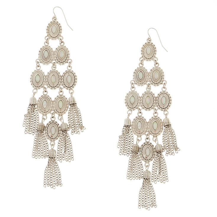 Iridescent Antique Finished Chandelier Earrings,