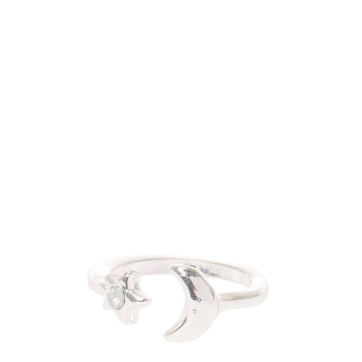 Silver Toned Universe Midi Ring,
