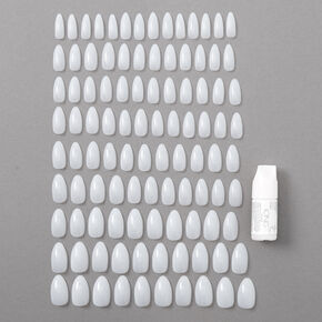 Natural Stiletto Faux Nails - 100 Pack,