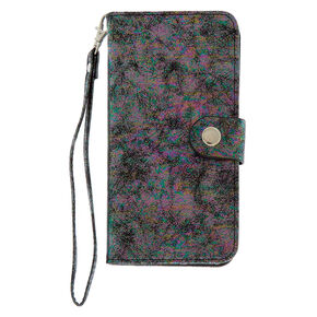 Oil Slick Metallic Folio Phone Case - Fits iPhone 6/7/8 Plus,
