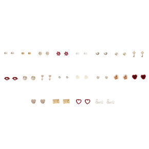 Lots of Love Stud Earrings Set of 20,