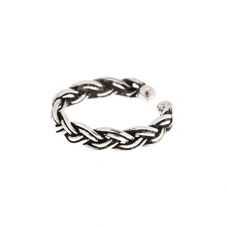 Sterling Silver Twisted Faux Nose Ring,